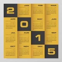 2015 company calendar black kalender creatief