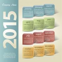 Vintage company 2015 kalender creatief vector